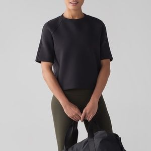 Lululemon NTS Cropped Short Sleeve Sweatshirt Top